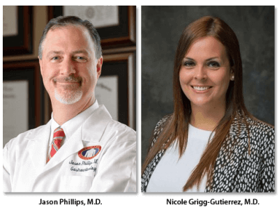 Dr. Phillips and Dr Grigg-Gutierrez portraits